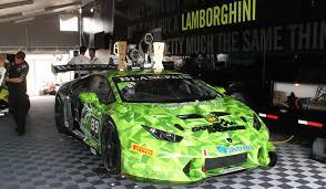 lamborghini race car inside the lamborghini trofeo huracán a race car made of