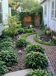 Front Of House Landscaping Ideas by Garden And Patio Narrow Side Yard House Design With Simple