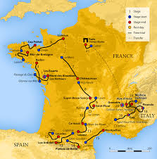 Italy France Map by 2011 Tour De France Wikipedia
