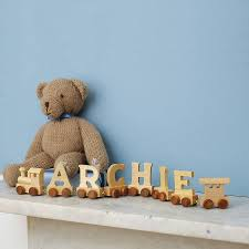 personalised wooden name train nursery babies and toy boxes