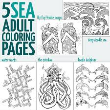 ocean coloring pages for adults sea doodles moms and crafters