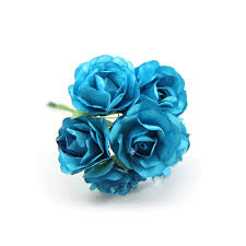 turquoise flowers turquoise paper flowers paper craft flower paper flowers