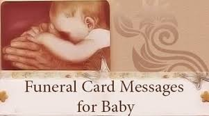 funeral card messages for baby funeral card messages exles