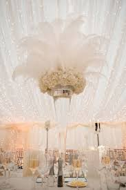 great gatsby centerpieces 55 eye catching feather wedding ideas for 2016