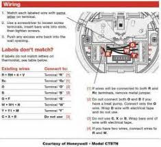 cooling only thermostat wiring diagram heat thermostat wiring