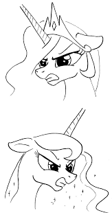 Challenge Angry Expression Challenge Angry Celestia And By Arrjaysketch On