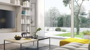 a living room with garden view is a creative idea in creating a