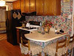 flowery wallpaper kitchen tacky décor shabby chic new york