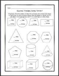 3d shapes worksheets 3d shape challenge properties of 3d