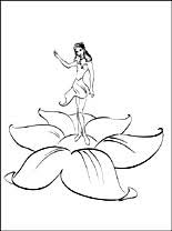 barbie thumbelina coloring pages barbie coloring pages