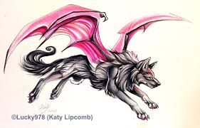 winged wolf by lucky978 on deviantart