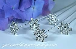 Floral Picks Rhinestone Snowflake Bouquet Picks