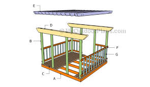 Deck Plans With Pergola by Deck Pergola Plans Myoutdoorplans Free Woodworking Plans And