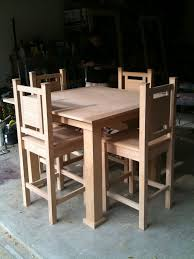 Bar Style Dining Room Sets by Ana White My First Dining Table And Chairs Project Diy Projects