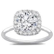 plain band engagement ring plain band cushion halo engagement setting r3040