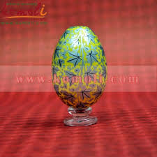 painted wooden easter eggs painted colorful chinar pattern on multi color decorative wooden