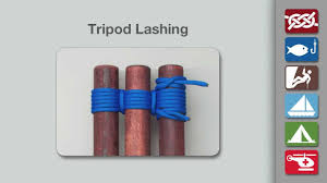 tripod lashing how to tie a tripod lashing youtube