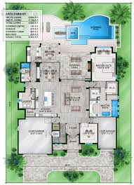 plan 86024bw florida house plan with second floor rec room