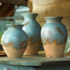 decorating with southwestern colors turquoise adobe pots