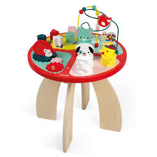 wooden activity table for janod forest activity table by janod for 129 95 in wooden toys