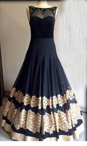 party wear gowns buy black georgette embroidered semi stitiched party wear gowns online