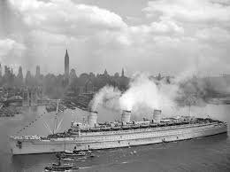 file rms queen mary 20jun1945 newyork jpeg nautical passion