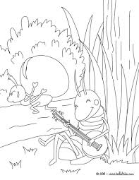 the grasshopper and the ant coloring pages hellokids com