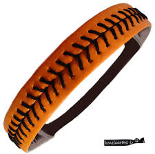 softball headbands softball headband orange black