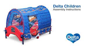 delta children tent bed assembly video youtube