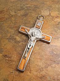 st benedict crucifix 4280 5 st benedict crucifix with olive wood inlay iconeum llc
