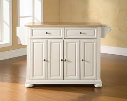 furniture white wooden portable kitchen island with seating plus