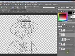 paint shop pro tutorial how to turn a photo to line art by
