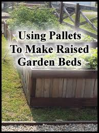 Raised Garden Beds From Pallets - using pallets to make raised garden beds small town homestead