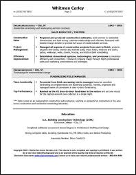Construction Executive Resume Samples by Former Business Owner Resume Sample
