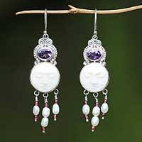 and pearl chandelier earrings pearl chandelier earrings pearl earrings at novica