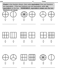 shading equivalent fractions by lcslionteacher tpt