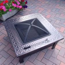 Firepits Uk The Aztec Stylish Square Metal Pit Patio Heater