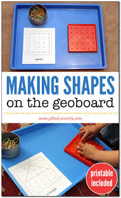making shapes on the geoboard gift of curiosity