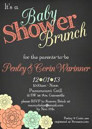 brunch invites wording baby shower brunch invitations plumegiant