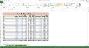 Excel Spreadsheet For Small Business Profit Loss Statement Excel Spreadsheet Template Microsoft