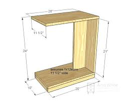 C Side Table C Side Table Furniture Small Side C Table Acrylic C Shaped Side