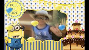 minion birthday party invites whatsapp minion birthday invitations min002 youtube