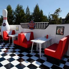 diner style booth table 50 s style diner booths sydney prop specialists