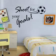 shoot for your goals football quotes sticker wall art decals