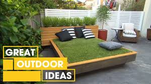 How To Make An Outdoor Bathroom How To Make An Amazing Grass Day Bed Outdoor Great Home Ideas