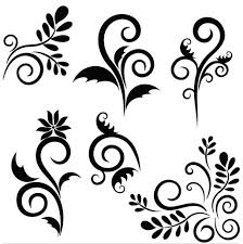 floral ornaments elements vector ai eps format free vector