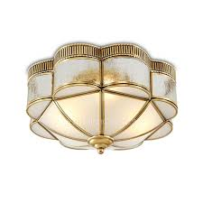 Bronze Ceiling Light Bronze Luxury Glass Shade Flush Mount Ceiling Lights