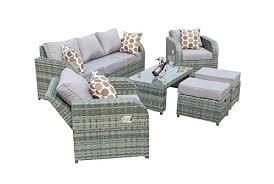 Outdoor Rattan Garden Furniture by Yakoe 50057 Rattan Garden Furniture Sofa Set Plus Reclining Chairs