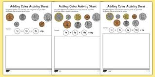 coins worksheet money addition resources