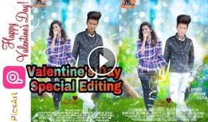 picsart editing tutorial video click to watch valentines dey special editing tutorial video